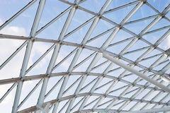 Finestra trasparente del tetto del soffitto della costruzione di vetro d'acciaio della parete Fotografia Stock