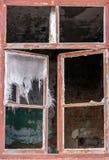 Finestra in una vecchia costruzione abbandonata Fotografia Stock Libera da Diritti