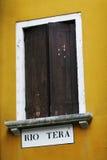 Finestra veneziana Fotografia Stock