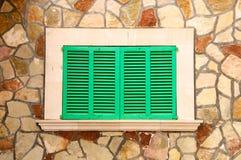 Finestra verde Immagini Stock Libere da Diritti