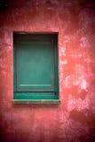 Finestra verde Fotografie Stock