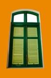 Finestra verde Immagine Stock