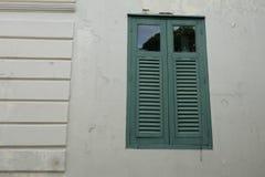 Finestra verde Fotografia Stock Libera da Diritti