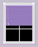 Finestra viola Fotografie Stock Libere da Diritti