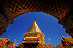 Finestra Wat Phra quel Doi Suthep fotografie stock libere da diritti