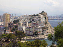 Finestrat. View of finestrat in benidorm - alicante (spain Royalty Free Stock Images