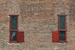 finestre antiche della prigione Immagini Stock