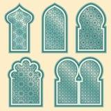 Finestre arabe o islamiche messe Fotografie Stock