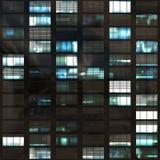 finestre astratte dell'ufficio Immagini Stock Libere da Diritti