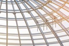 Finestre automatiche di rimozione del fumo in cupola di vetro Immagine Stock Libera da Diritti