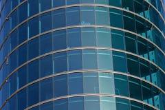 Finestre blu dell'ufficio Fotografie Stock