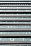 Finestre commerciali della costruzione Immagine Stock
