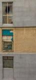 Finestre comuniste della costruzione Fotografia Stock