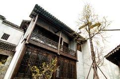 Finestre costruzione-di legno di stile di Hui immagine stock libera da diritti