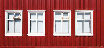 Finestre d'annata - Scandinavia fotografia stock
