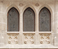 Finestre del castello Fotografia Stock Libera da Diritti