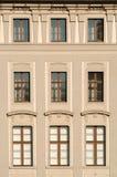 Finestre del castello di Praga Fotografia Stock