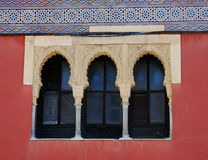 Finestre del Moorish Fotografie Stock