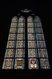Finestre del mosaico nella cattedrale di Zagabria Immagini Stock