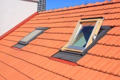 Finestre del tetto Fotografia Stock Libera da Diritti