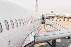 Finestre dell'aereo di linea fotografia stock