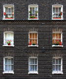 Finestre dell'appartamento Fotografia Stock
