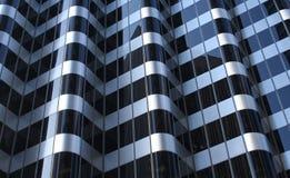 Finestre dell'edificio per uffici Immagine Stock