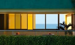Finestre dell'hotel Fotografia Stock Libera da Diritti
