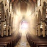 Finestre della chiesa Fotografia Stock