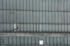 Finestre della fabbrica Fotografie Stock Libere da Diritti