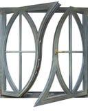 Finestre della struttura di legno con vetro Fotografia Stock