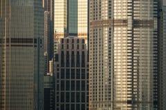 Finestre delle costruzioni del grattacielo fotografia stock