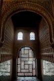 Finestre di Alhambra Immagine Stock