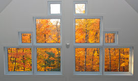Finestre di autunno Fotografia Stock Libera da Diritti