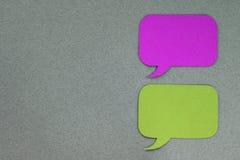 Finestre di dialogo Immagini Stock