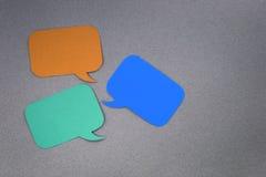 Finestre di dialogo Fotografie Stock