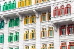Finestre di eredità, Singapore Immagini Stock Libere da Diritti