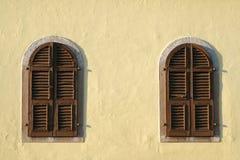 Finestre di legno Fotografia Stock