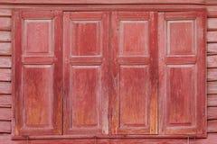 Finestre di legno antiche Fotografia Stock