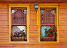 Finestre di legno dell'ottomano Immagine Stock Libera da Diritti