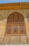 Finestre di legno della cittadella verticali Fotografia Stock