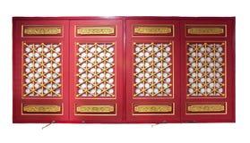 Finestre di legno rosse di Chiness fotografia stock