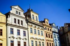 Finestre di Praga immagini stock