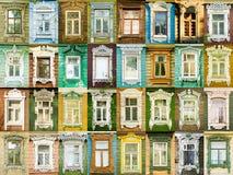Finestre di varietà dalla città russa Rostov Immagine Stock