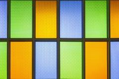 Finestre di vetro della macchia variopinta fotografia stock libera da diritti