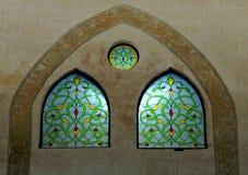 Finestre di vetro macchiate arabe Fotografia Stock