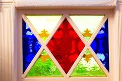 Finestre di vetro macchiato Immagine Stock