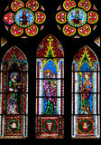 Finestre di vetro macchiato di Friburgo Minster Fotografia Stock