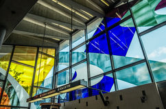Finestre di vetro macchiato di Marcelle Ferron (1968) Immagine Stock