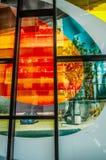 Finestre di vetro macchiato di Marcelle Ferron (1968) Fotografia Stock Libera da Diritti